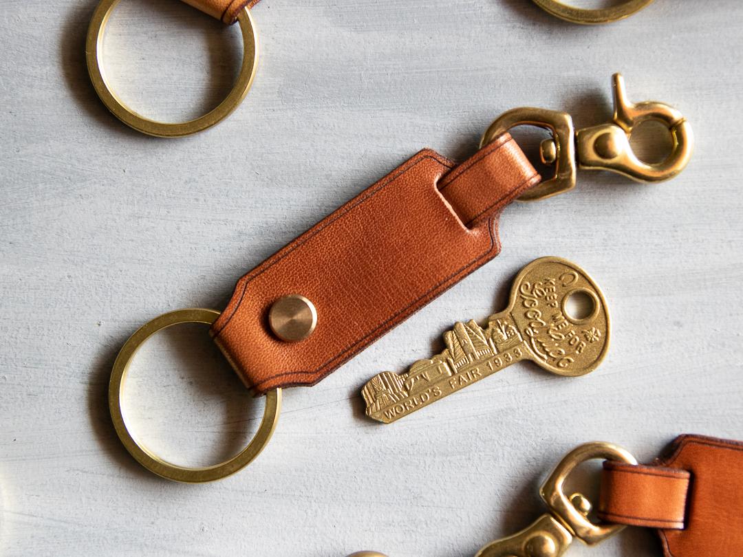 皮革鑰匙圈