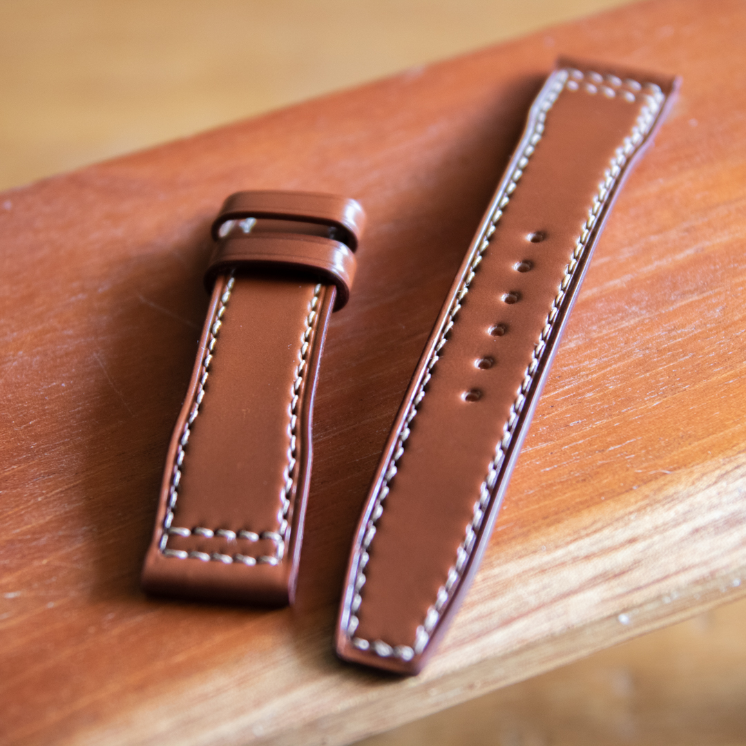Cordovan Watch Strap 馬臀皮錶帶 手工錶帶 APPLE WATCH錶帶 Shellcordovan